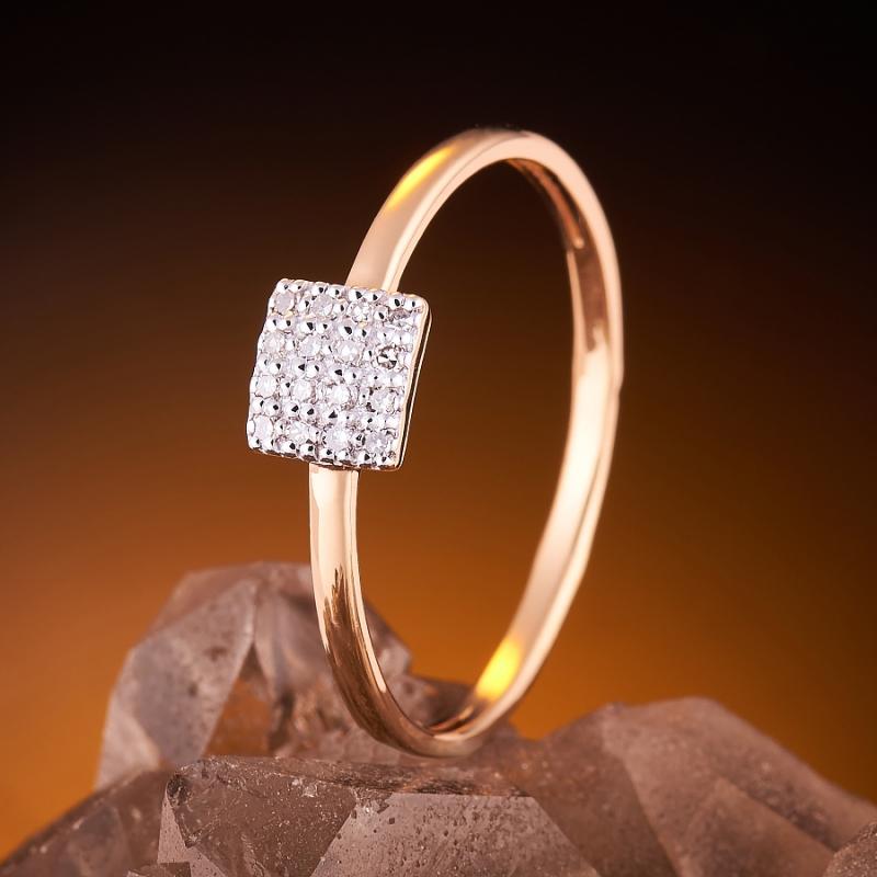 Кольцо бриллиант Россия огранка (золото 585 пр.) размер 22