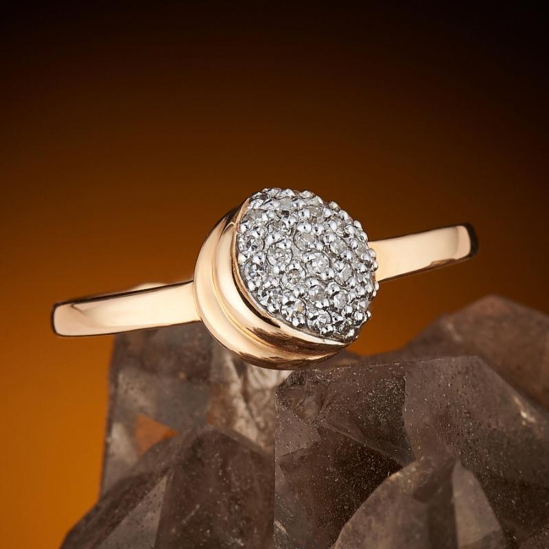 Кольцо бриллиант Россия огранка (золото 585 пр.) размер 15,5