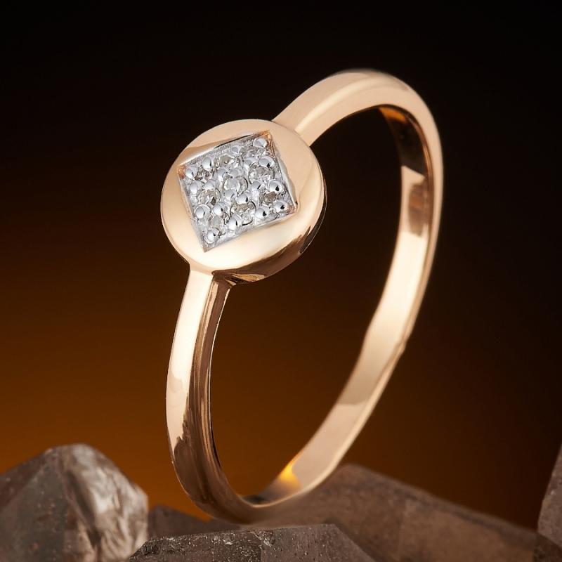 Кольцо бриллиант  огранка (золото 585 пр.) размер 19,5