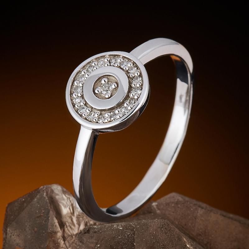 Кольцо бриллиант Россия огранка (белое золото 585 пр.) размер 18,5