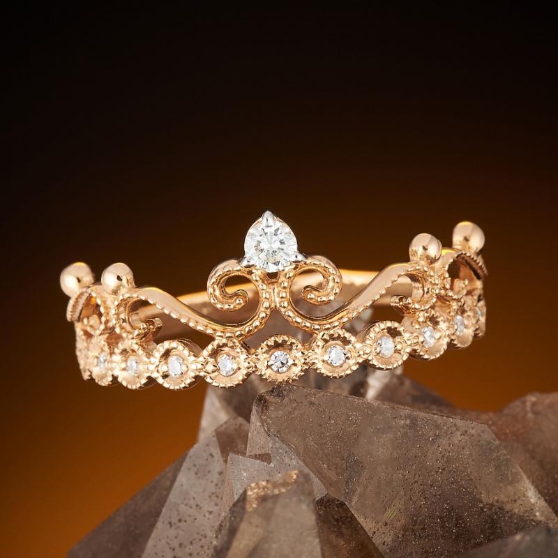Кольцо бриллиант Россия огранка (золото 585 пр.) размер 17
