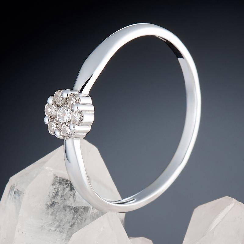 Кольцо бриллиант Россия огранка (белое золото 585 пр.) размер 21