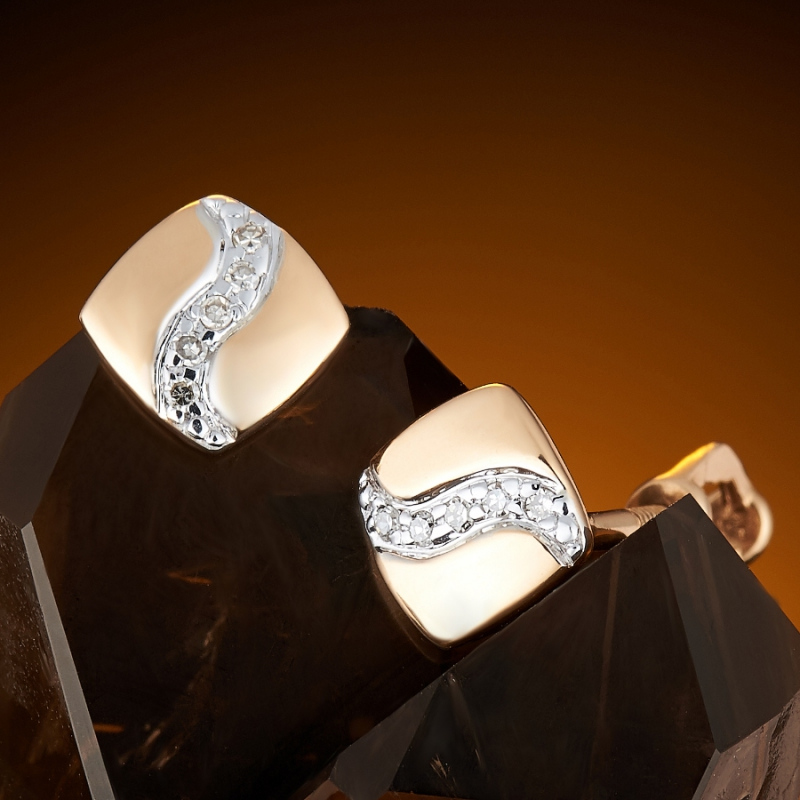 Серьги (пуссеты) бриллиант  огранка (золото 585 пр.) серьги пуссеты