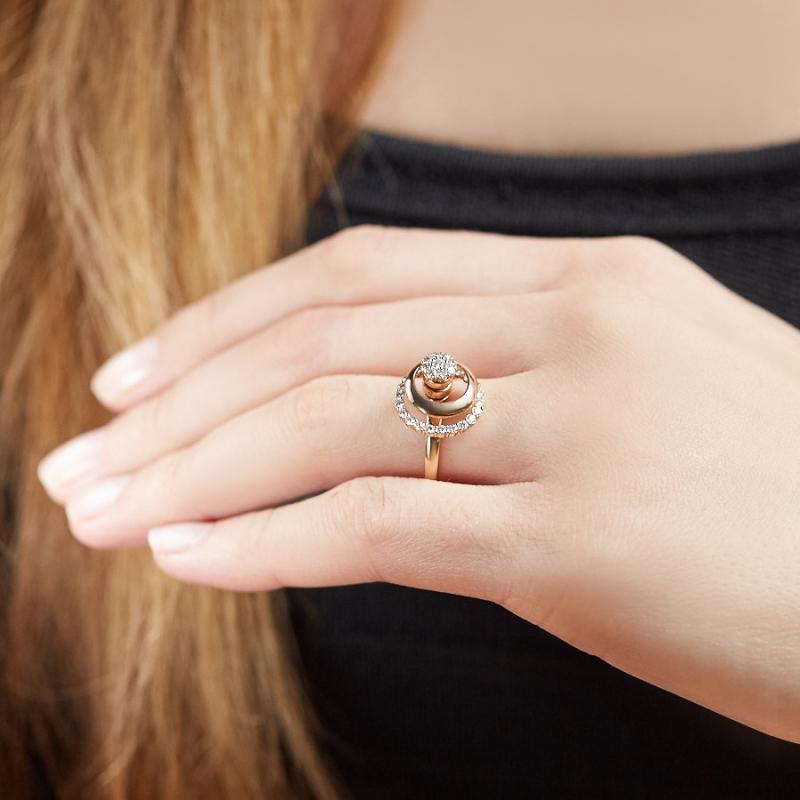 Кольцо бриллиант Россия огранка (золото 585 пр.) размер 16