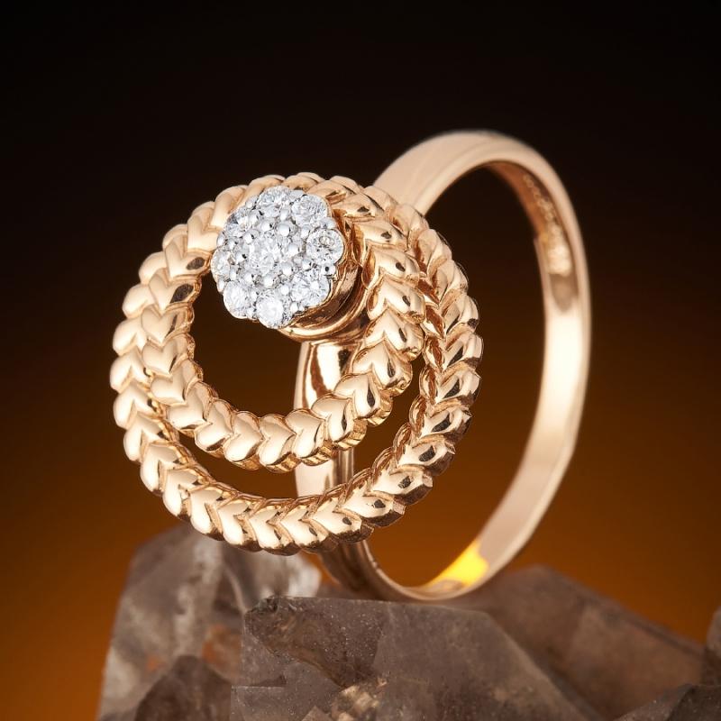 Кольцо бриллиант Россия огранка (золото 585 пр.) размер 18,5