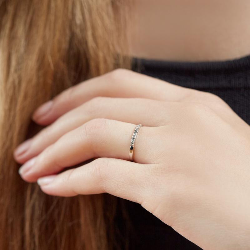 Кольцо бриллиант Россия огранка (белое золото 585 пр.) размер 16