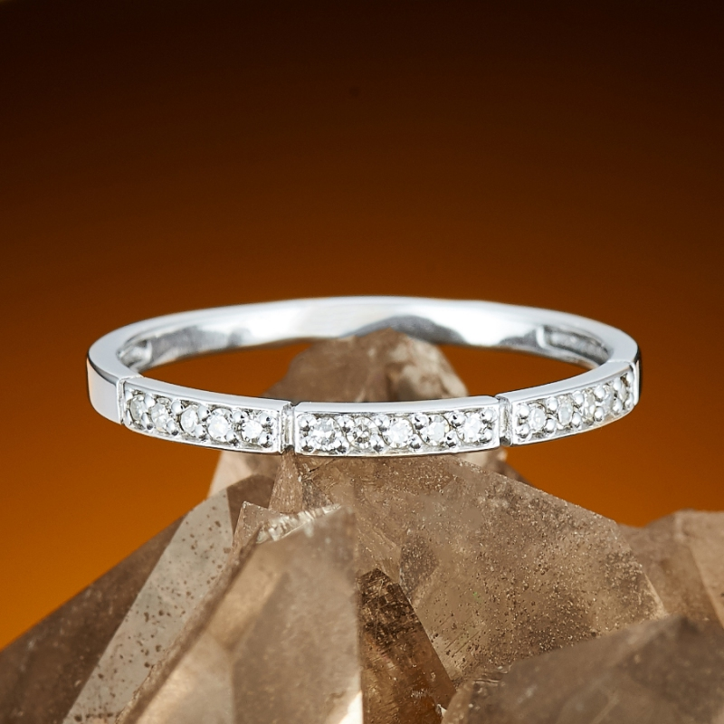 Кольцо бриллиант Россия огранка (белое золото 585 пр.) размер 16,5