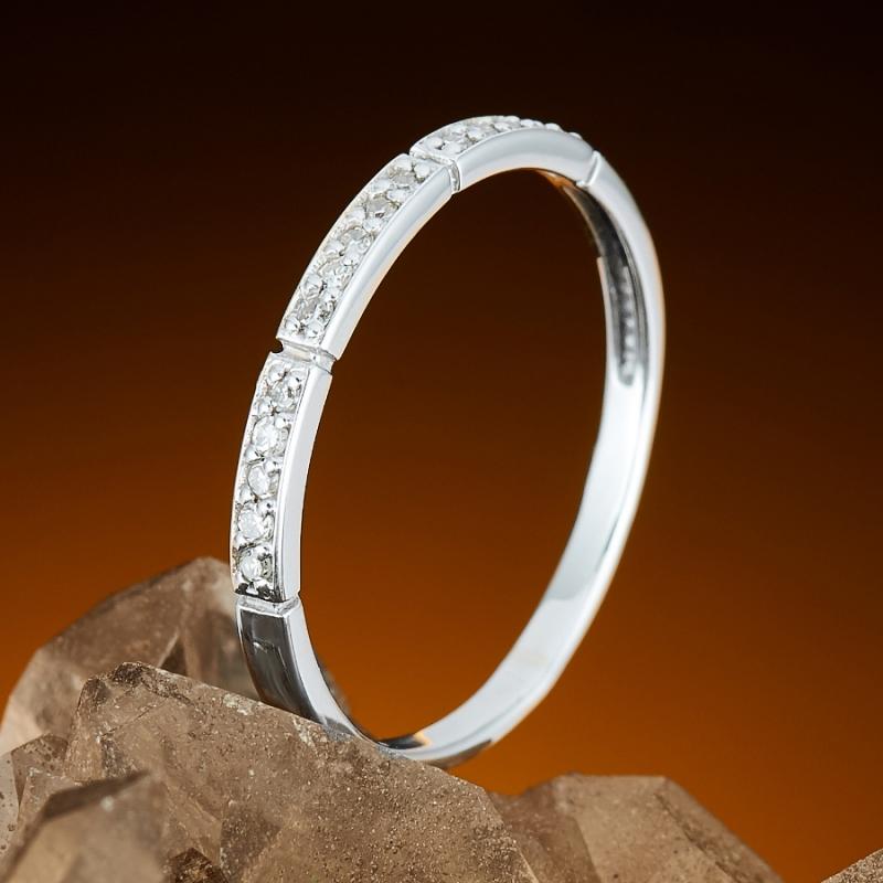 Кольцо бриллиант Россия огранка (белое золото 585 пр.) размер 19