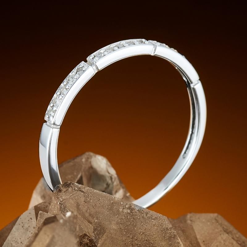 Кольцо бриллиант Россия огранка (белое золото 585 пр.) размер 21,5