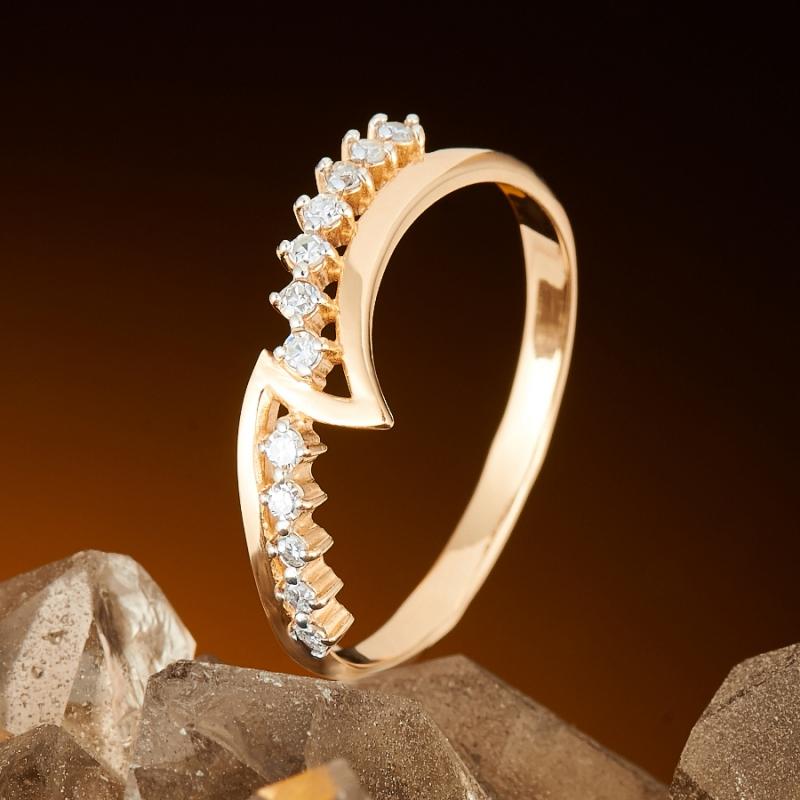 Кольцо бриллиант Россия огранка (золото 585 пр.) размер 17,5