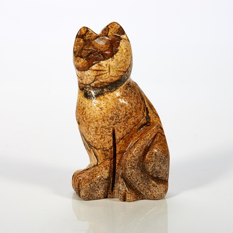 Котик яшма рисунчатая  5 см от Mineralmarket