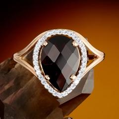 Кольцо гранат Бразилия огранка (золото 585 пр.) размер 19,5