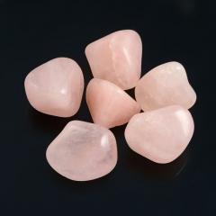 Галтовка розовый кварц Намибия (1,5-2 см) (1 шт)