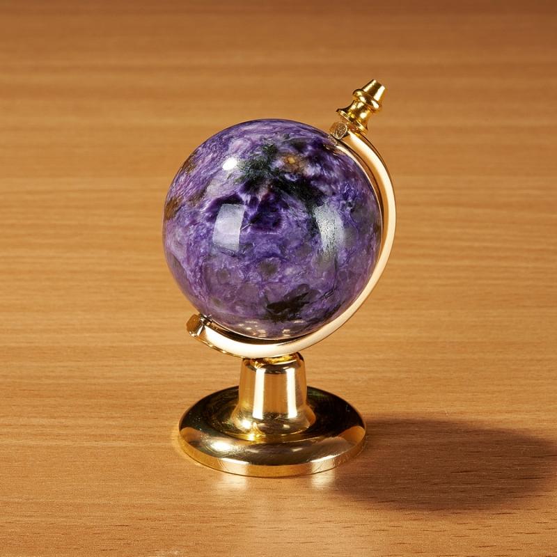 Глобус из чароита 7 см