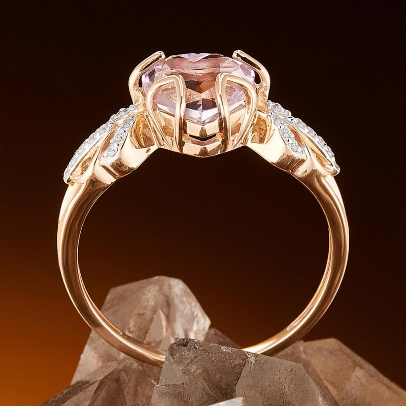 Кольцо аметист Бразилия огранка (золото 585 пр.) размер 21,5