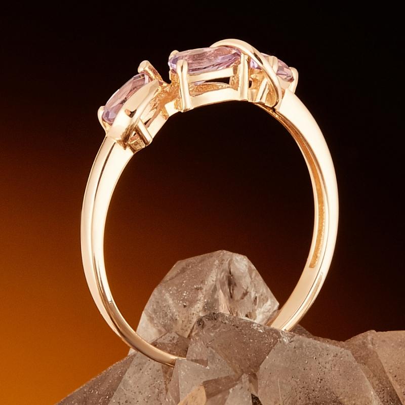 Кольцо аметист Бразилия огранка (золото 585 пр.) размер 20,5