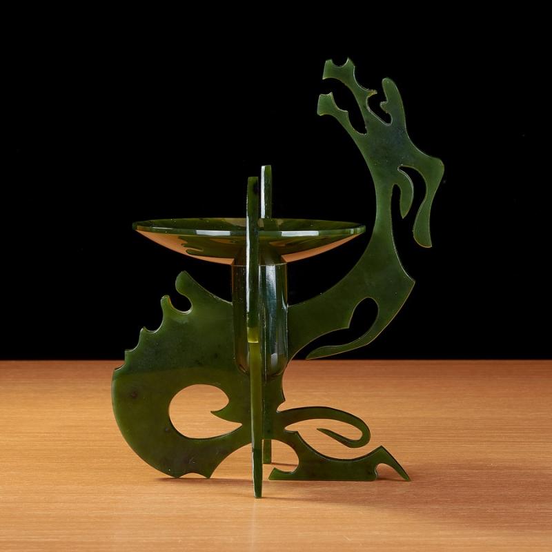Монетница Дракон нефрит 17 см интерактивный дракон калин 12 см