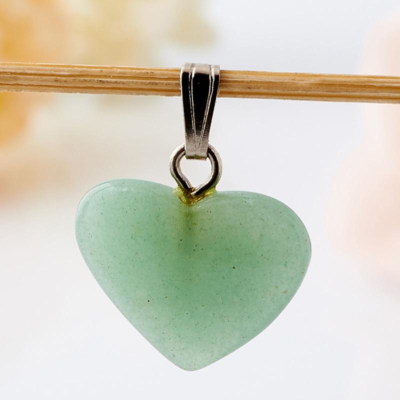 Кулон сердечко авантюрин зеленый  2 см кулон авантюрин зеленый клык 5 см