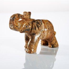 Слон из рисунчатой яшмы (5 см)