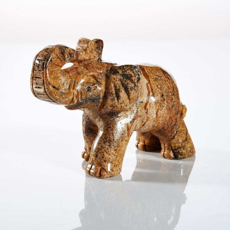 Слон яшма рисунчатая 4-5 см слон содалит 3 5 4 см