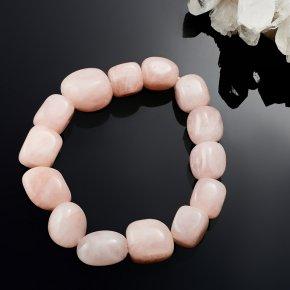 Браслет розовый кварц Намибия 17 cм