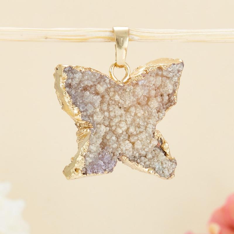 Кулон щетка бабочка кварц 3-4 см кулон щетка кварц 5 7 см