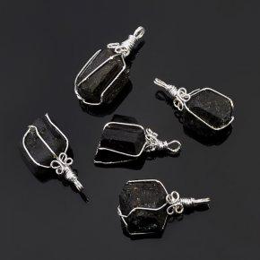 Кулон кристалл турмалин черный (шерл) Бразилия 3,5-4 см