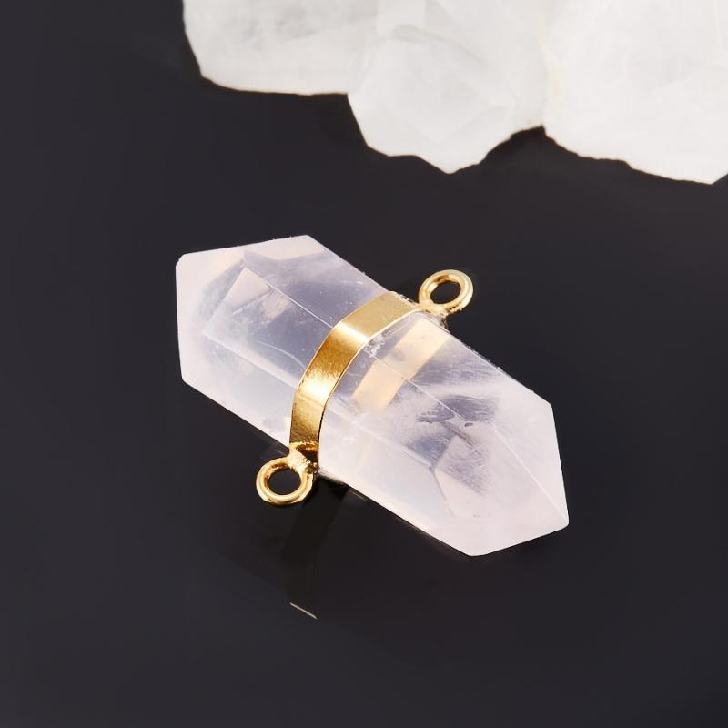 Кулон кристалл розовый кварц  4 см