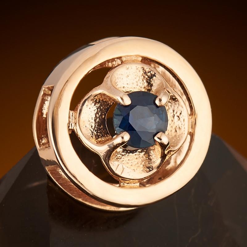 Кулон сапфир  огранка (золото 585 пр.)