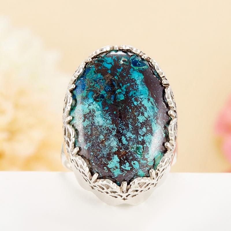 Кольцо хризоколла  (серебро 925 пр.)  размер 19,5