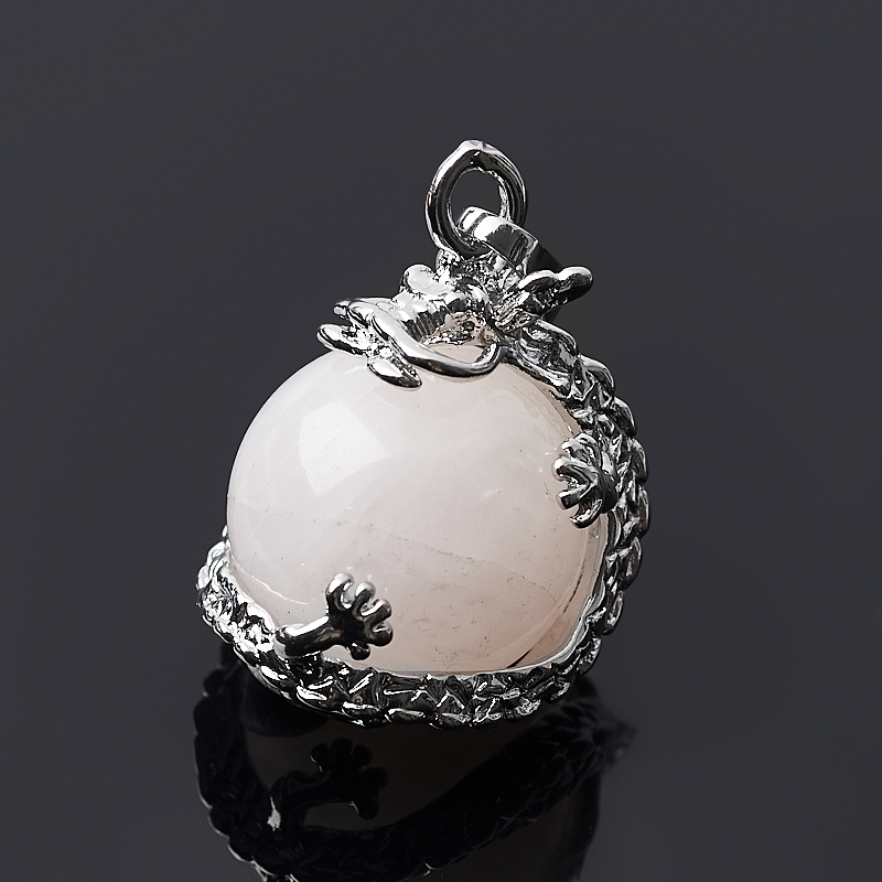Кулон дракон розовый кварц (биж. сплав) 3 см кулон розовый кварц овал биж сплав 3 см