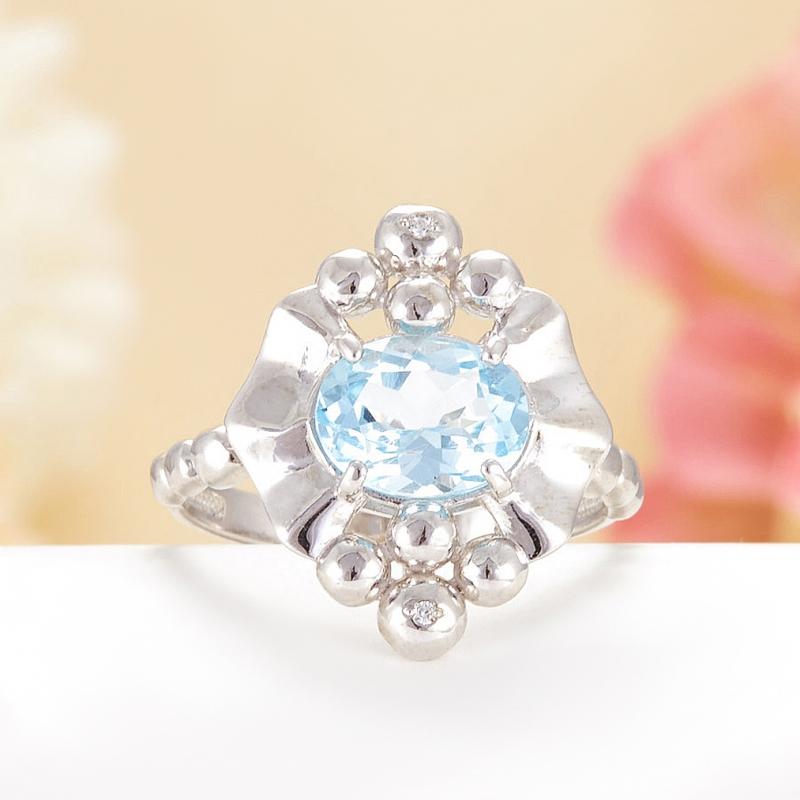 Кольцо топаз огранка (серебро 925 пр.) размер 18 кольцо коюз топаз кольцо т702042932