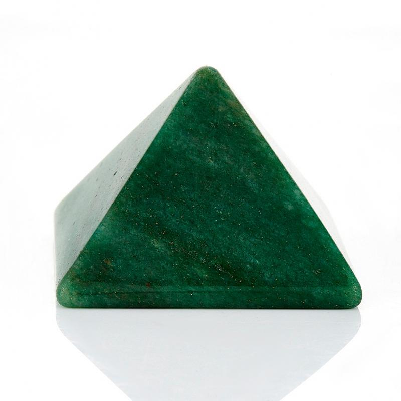 Пирамида авантюрин зеленый  4 см бусы авантюрин зеленый 41 50 см