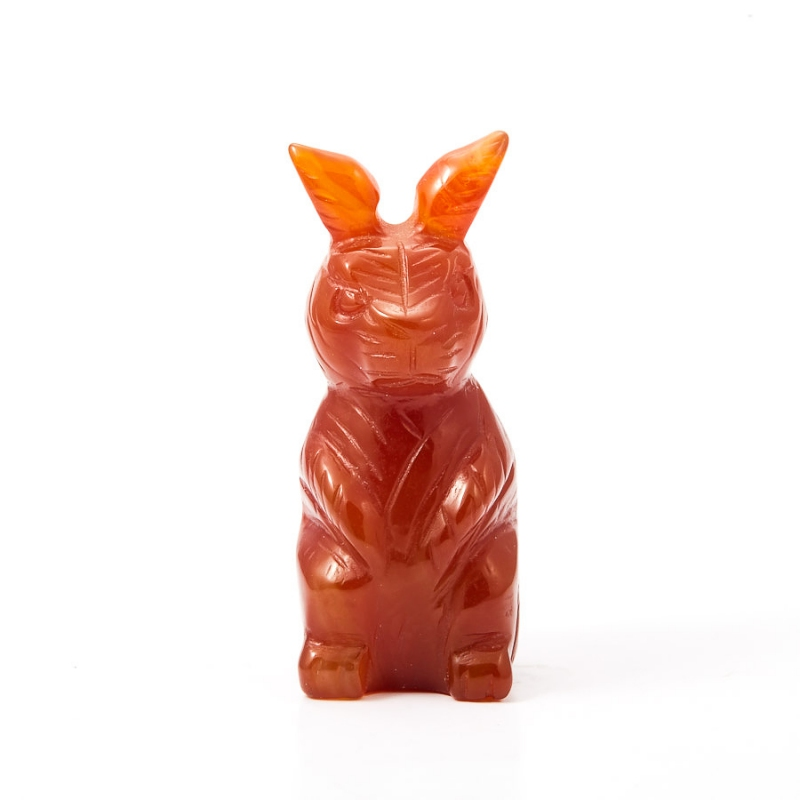 Заяц сердолик 5 см ежик чароит сердолик нефрит офиокальцит 3 5х8 5 см