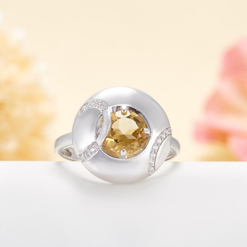 Кольцо цитрин  огранка (серебро 925 пр.) размер 18 кольцо авантюрин зеленый серебро 925 пр размер 18