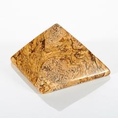 Пирамида яшма рисунчатая (песочная) Намибия 5 см