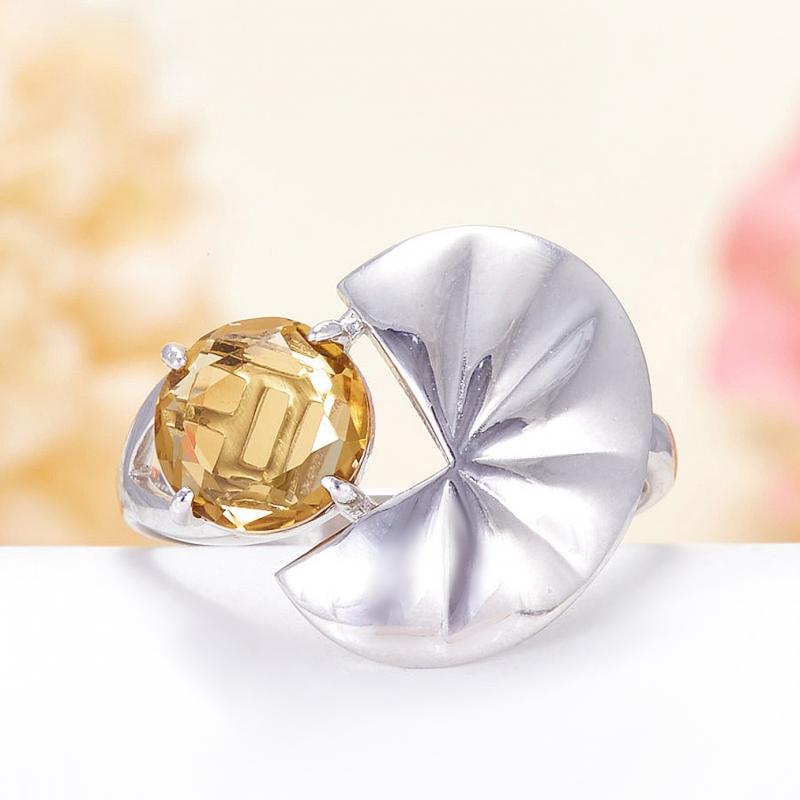 Кольцо цитрин огранка (серебро 925 пр.) размер 18 кольцо цитрин серебро 925 пр золото 585 пр размер 19 5