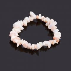 Браслет опал розовый Перу 18 cм