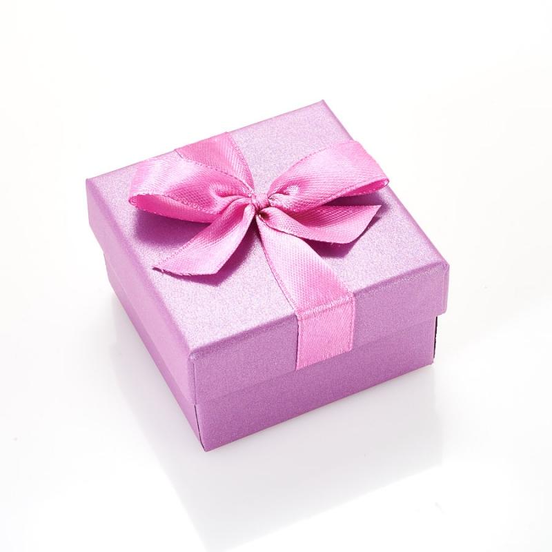 Подарочная упаковка под комплект (кольцо, серьги, кулон) 55х55х30 мм жен мотаться уникальный дизайн в виде подвески кулон серебряный одинарная цепочка перо серьги назначение повседневные