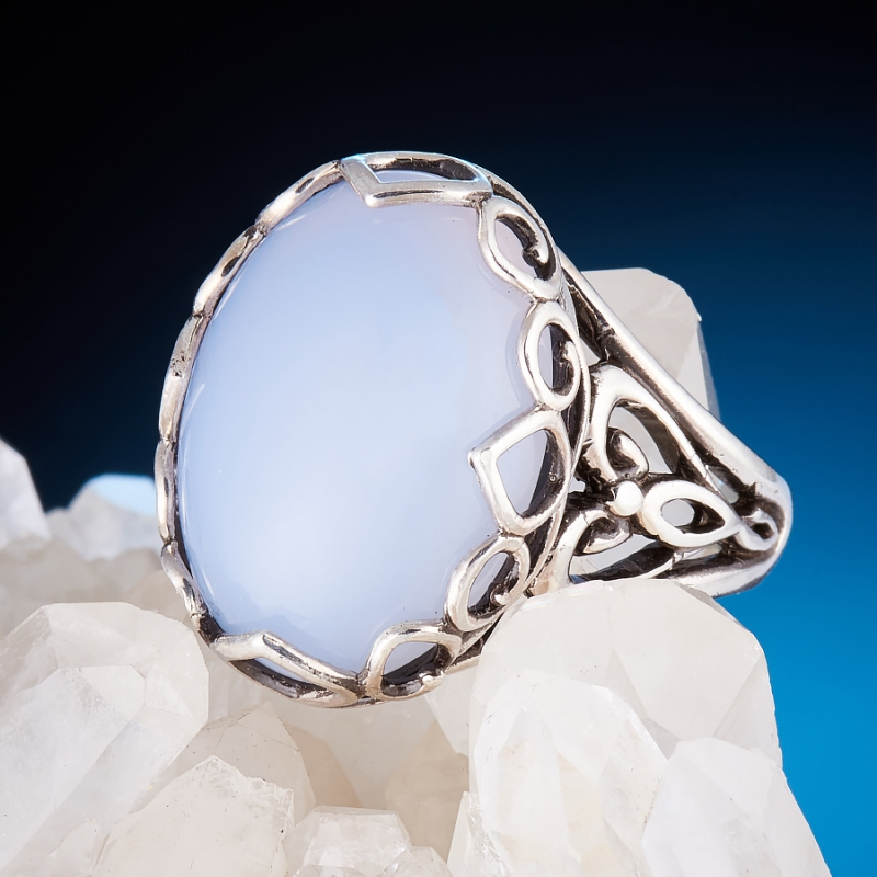 [del] Кольцо агат Намибия (серебро 925 пр.)  размер 16,5