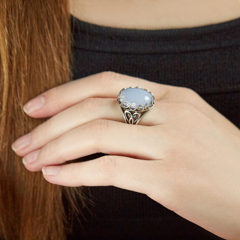 [del] Кольцо агат Намибия (серебро 925 пр.)  размер 19,5