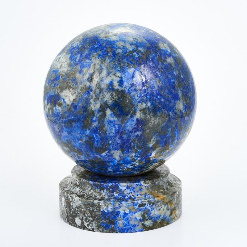 Шар лазурит на подставке 8 см дизайнерский елочный шар на подставке quelle russian elka 1021263