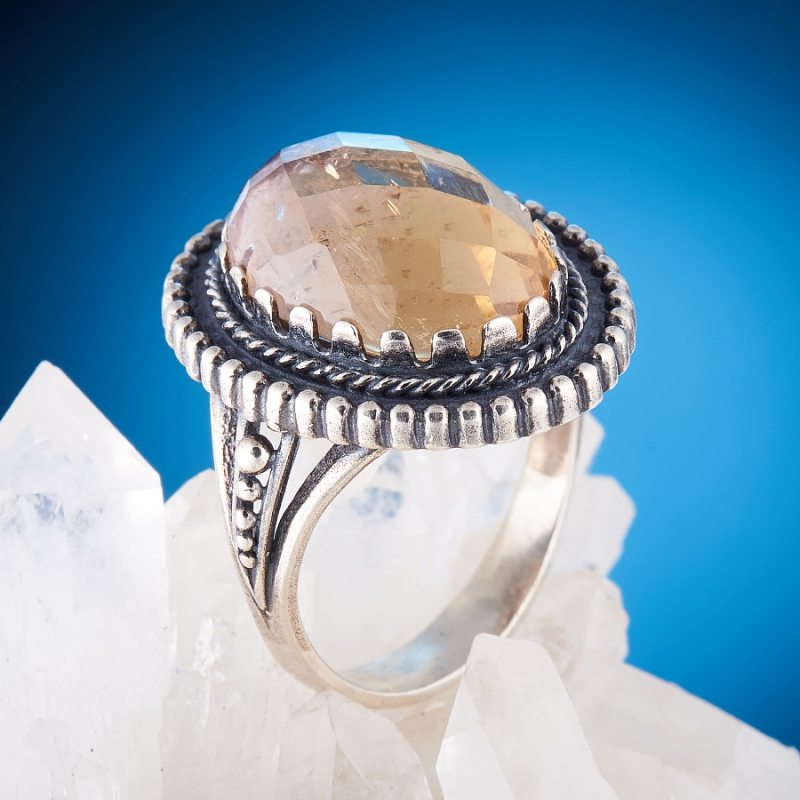 [del] Кольцо аметрин Бразилия огранка (серебро 925 пр.) размер 16