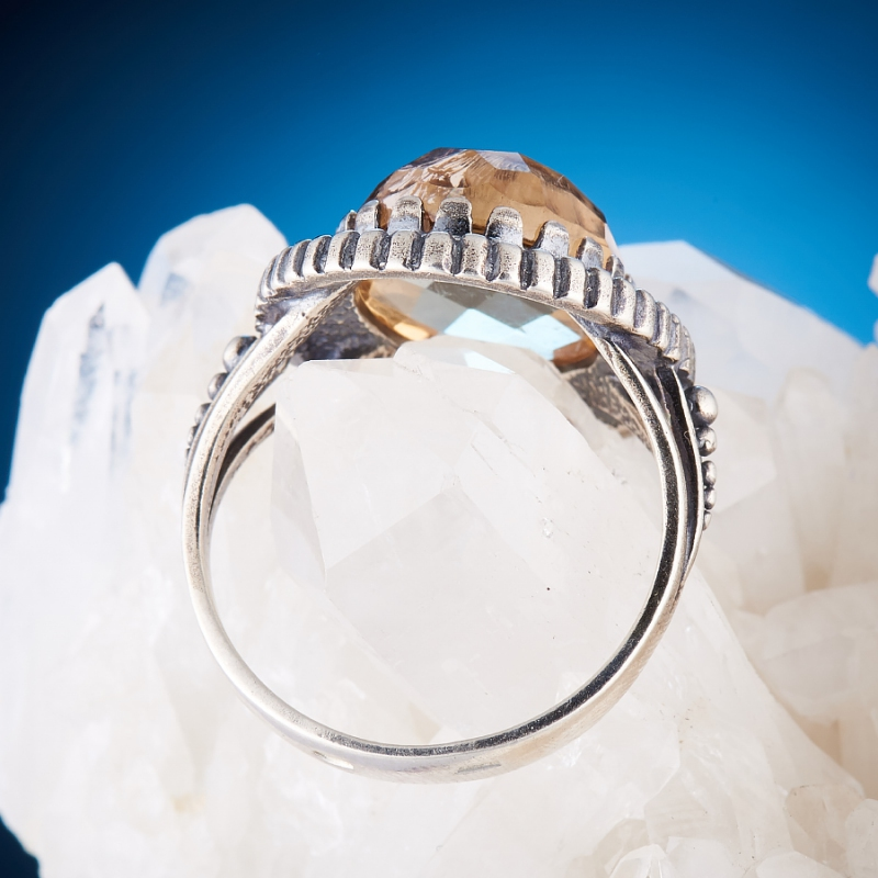 [del] Кольцо аметрин Бразилия огранка (серебро 925 пр.) размер 18,5