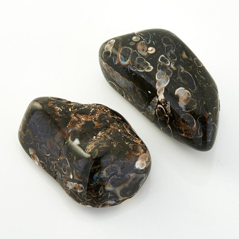 Агат черепаховый  (3-4 см) 1 шт бусина агат шарик 4 мм огранка 1 шт