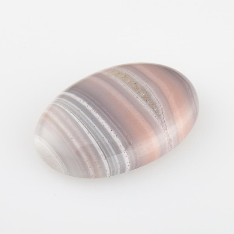 Кабошон агат розовый Ботсвана 12*18 мм