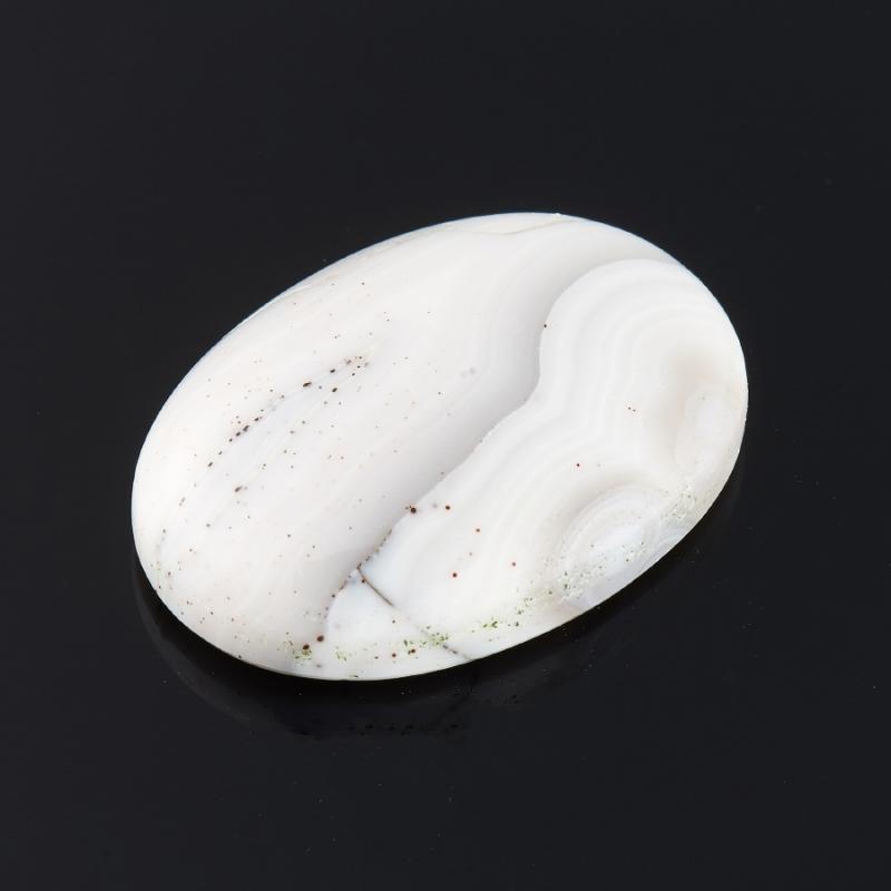 Кабошон агат серый Ботсвана 12*18 мм