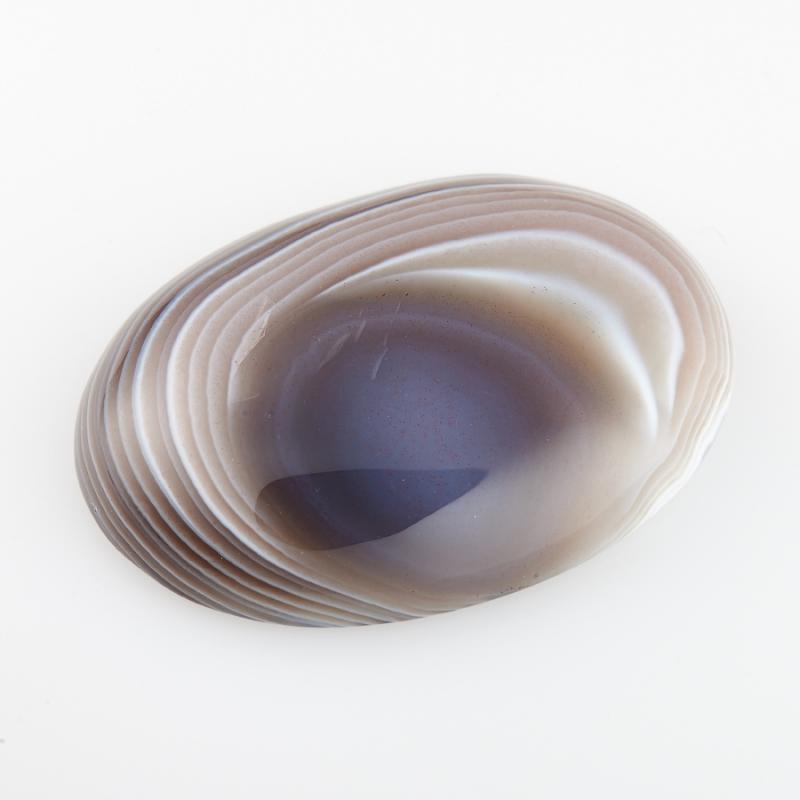 Кабошон агат серый Ботсвана 22*30 мм