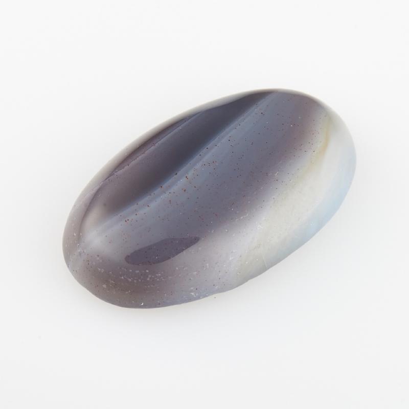 Кабошон агат серый Ботсвана 12*20 мм