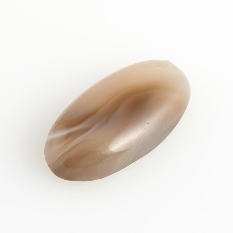 Кабошон агат серый Ботсвана 8*15 мм